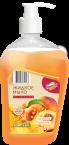 Жидкое мыло Бирюса Сочный персик 500 г, флакон